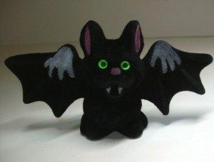 Vintage Halloween Vampire Bat Toy Green Eyed Fangs Original NOS 1960s Hong Kong