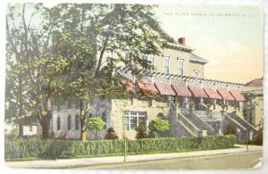 1911 ANTIQUE POSTCARD THE ELKS HOME ELIZABETH N.J. cork cancel