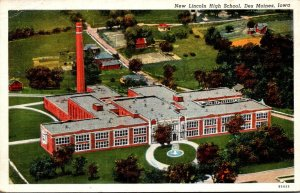 Iowa Des Moines New Lincoln High School Curteich