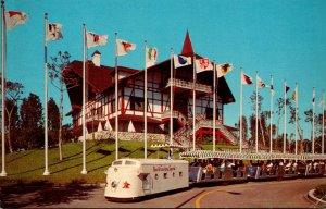 Florida Tampa Busch Gardens The Busch Gardens Special Miniature Train Leaving...