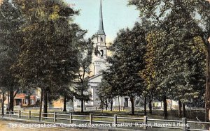 The Congregational Church & Common Haverhill, Massachusetts Postcard