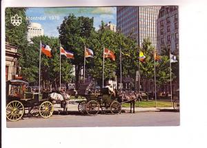 Caleches, Horse and Buggies, Dominion Square, 1976 Olympics, Montreal, Quebec