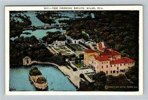The Deering Estate, Vintage Miami Florida Postcard
