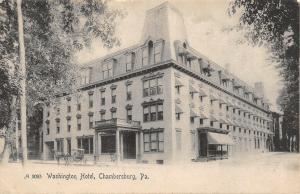 Chambersburg Pennsylvania~Washington Hotel~Victorian Style Mansard Roof~1908 PC