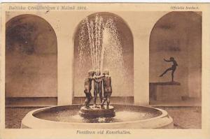 Baltiska Utstallningen i Malmo 1914, Fontanen Vid Konsthallen, Sweden, PU-1914