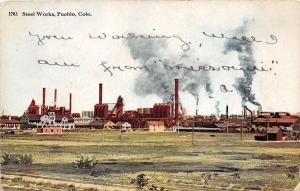 B57/ Pueblo Colorado Co Postcard 1911 Steel Works Factory