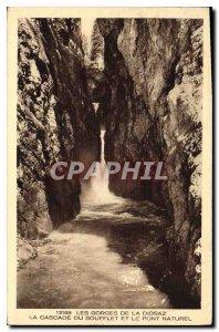 Old Postcard Gorges Diosaz Cascade Soufflet and the Natural Bridge