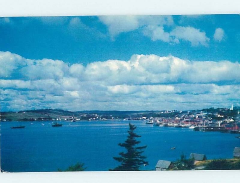Pre-1980 PANORAMIC VIEW Lunenburg - Near Lahave & Bridgewater NS F9205