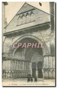 Old Postcard Epinal Old Gate of the Church St Maurice