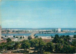 Postcard Cote d'Ivoire Abidjan Lagoon general view Treicheville Bridge