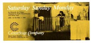 Play, CentreStage Company Bluma Appel Theatre 1987, Toronto Ontario, Advertising