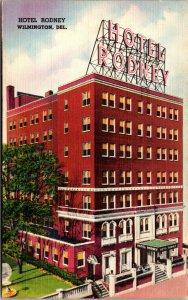 Vtg 1930s Hotel Rodney Market Street Wilmington Delaware DE Unused Postcard