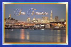 Postcard 1998 San Francisco at Dusk , California, USA J81