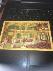 Vtg Postcard: Senate Chamber - State Capitol, Harrisburg PA