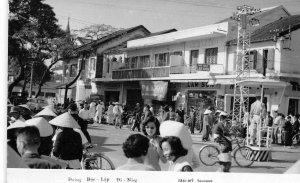 RPPC Đường Độc Lập Đà Nẵng VIETNAM Street Scene Tourane c1960s Vintage Postcard