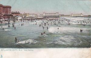 New Jersey Atlantic City Beach Scene Noon Bathing Tucks