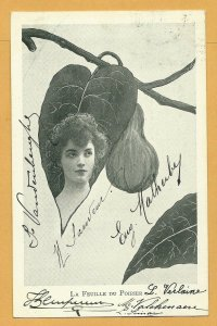 Art Nouveau ; XAVIER SAGER ; Woman & Leaf Combo; 1901-07 ; Du Poirier