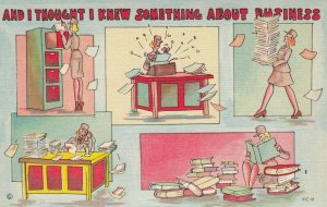MILITARY COMIC, 1930-40s; And I Thought I Knew Something About Business