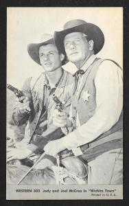 ARCADE CARD Cowboy Entertainers Jody & Joel McCrea