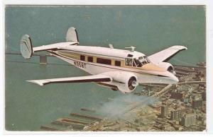 Beechcraft Super H-18 Plane Aircraft advertising postcard