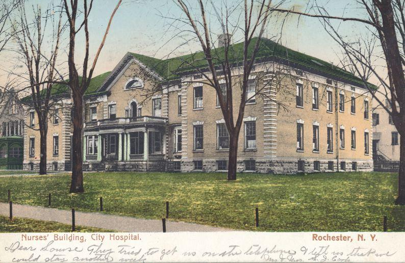 Nurses Building at City Hospital - Rochester, New York - pm 1908 - UDB