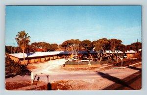 Chrome View of Tropic Autel, Motel, Pool, Aransas Pass TX, Postcard X27