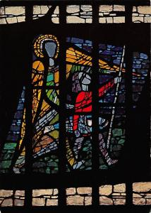 Raphael und Tobias, Betonglasfenster von Prof. Birkle, St. Christoph