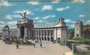 Prince's Gate, Canadian Nat. Exhibition, Toronto, Canada, Early Postcard, Unused