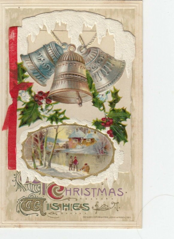 WINSCH CHRISTMAS Booklet  , 1911 ; Bells & Pond , Note pad inside