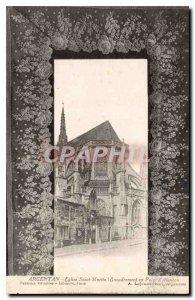 Old Postcard Argentan Church Saint Martin