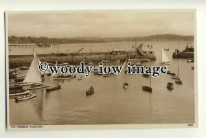 tp0763 - Devon -  Many Yachts Moored inside the Harbour, in Paignton - Postcard