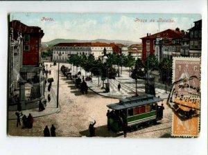 3118351 Portugal PORTO Praca da Batalha TRAM Vintage RPPC
