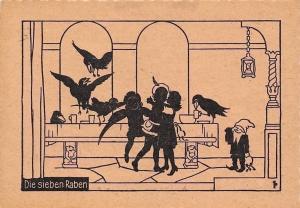 Die sieben Raben The Seven Ravens, Fairy tale, Silhouettes