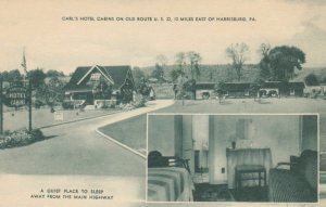 HARRISBURG, Pennsylvania, 1920-30s; Carl's Hotel Cabins on Old Route U.S. 22