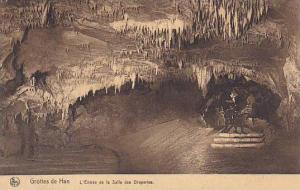 Belgium Grotte de Han L'Entree de la Salle des Draperies