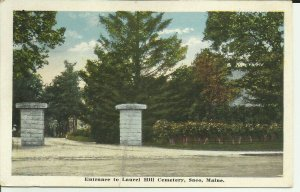 Saco, Maine, Entrance To Laurel Hill Cemetery