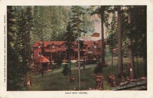 Postcard Half-Way House Pikes Peak Colorado