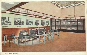 Golden Gate Exposition Postcard Japanese Women at Raw Silk Reeling Machines