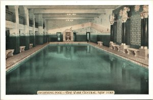 Postcard NY New York NYC Hotel Park Central Swimming Pool Interior Unposted
