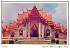 The Marble Temple, Bangkok, Siam, Thailand, 40-60s
