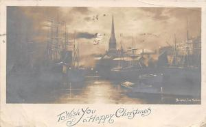 Christmas Postcard Printed Photo Postal used unknown