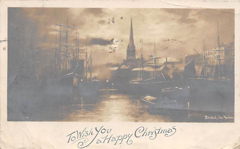 Printed Photo Christmas Postal used unknown