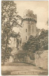 UK, Warwick Castle, Caesar's Tower, early 1900s unused Postcard