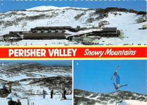 Australia N.S.W. Snowy Mountains, Perisher Valley, Ski Centre, Aerial skiing ski