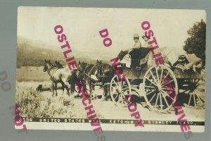 Ketchum IDAHO RPPC 1911 U.S. MAIL STAGECOACH Wagon RFD to Stanley WILD WEST