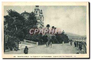 Old Postcard Monte Carlo Casino and Les Terrasses
