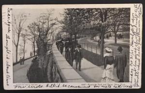 Riverside Park and Drive New York 1906 Souvenir Post Card Co