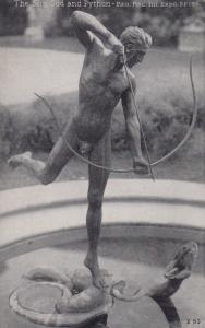 Pan-Pac Exposition, S.F. , California , 1915 ; Statue - The Sun God & Python