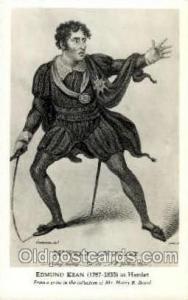 Theater Post Card Postcards  Edmund Kean as Hamlet