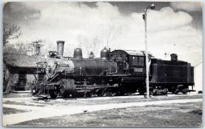 1950s Minden Nebraska PIONEER VILLAGE Postcard 1889 Baldwin Locomotive Unused
